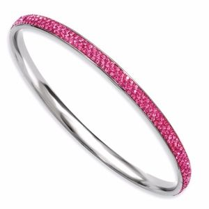Pink Crystal Rounded Bangle